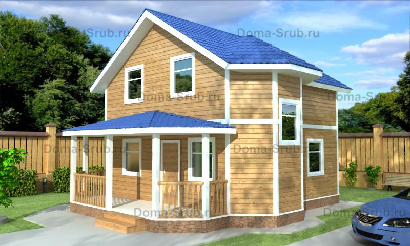Проект ДБ-101 Дом из бруса 8,5х9