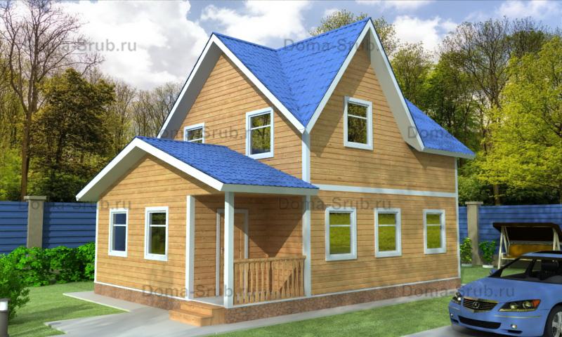 Проект ДБ-66 Дом из бруса 6,5х10