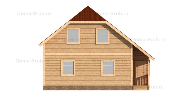 Проект КД-45 Каркасный дом 8х9,5