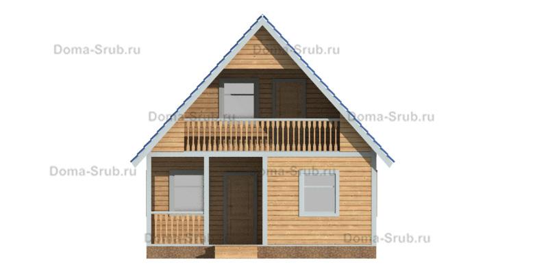Проект КД-98 Каркасный дом 7х9
