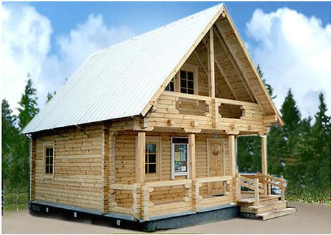 Проект КД-6 Каркасный дом 6х8