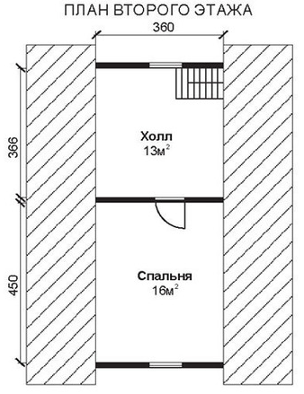 Проект ДБ-46 Дом из бруса 6х7
