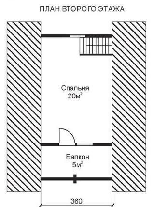 Проект КД-1 Каркасный дом 6х6