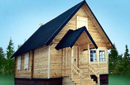 Проект КД-12 Каркасный дом 6х6