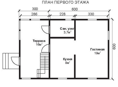 Проект ДБ-28 Дом из бруса 6х9