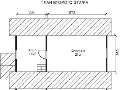 Проект КД-46 Каркасный дом 6х9