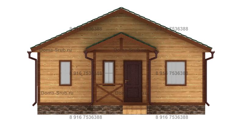 Проект КД-18 Каркасный дом 9х9