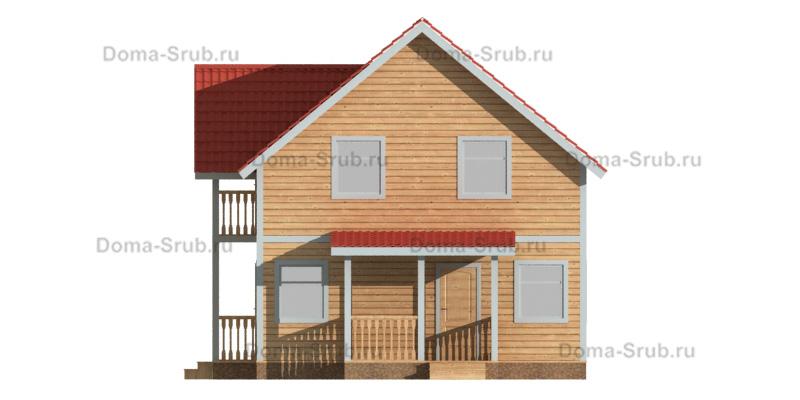 Проект ДБ-68 Дом из бруса 7,5х7,5