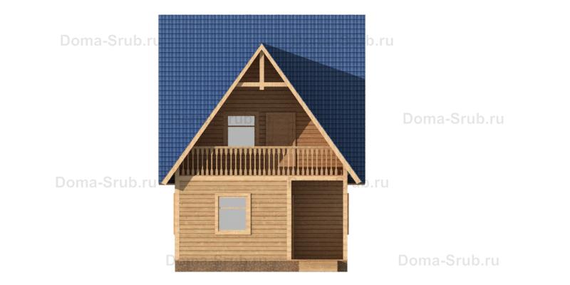 Проект КД-38 Каркасный дом 6х8