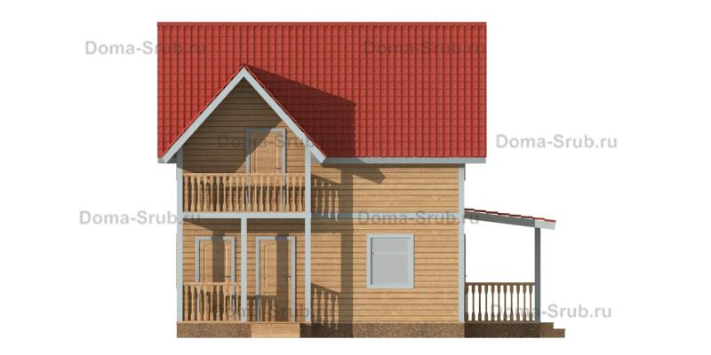 Проект КД-72 Каркасный дом 7,5х7,5
