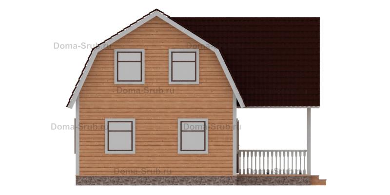 Проект ДБ-62 Дом из бруса 6х9
