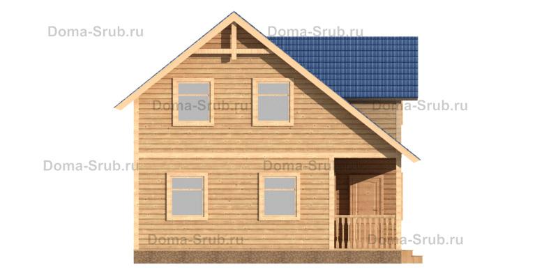 Проект ДБ-63 Дом из бруса 8х9