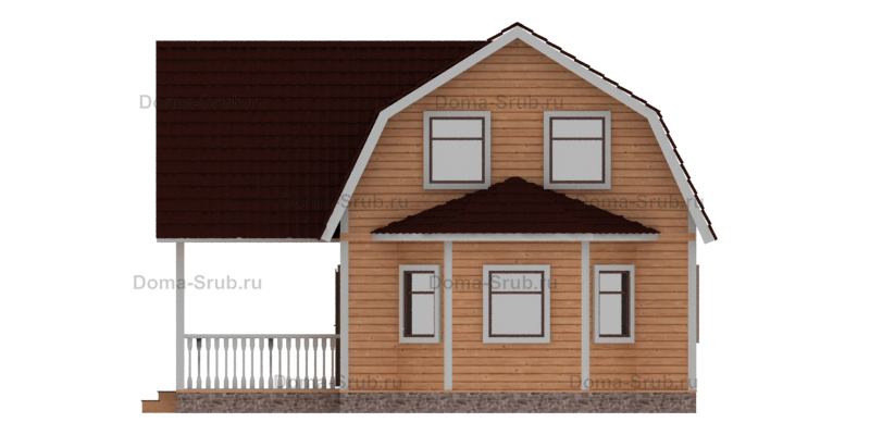 Проект КД-24 Каркасный дом 6х9
