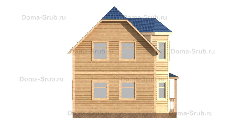 Проект КД-65 Каркасный дом 6х9
