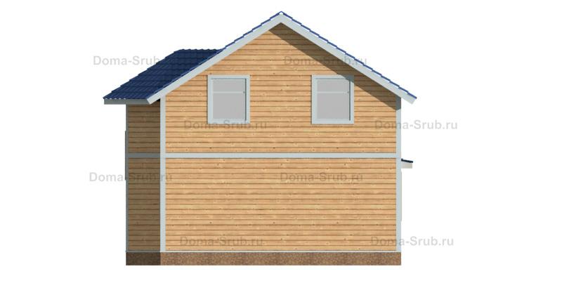 Проект КД-101 Каркасный дом 8,5х9