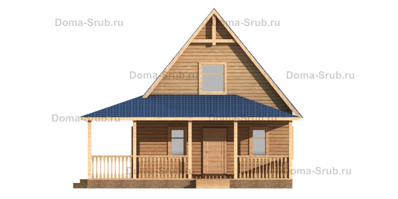 Проект КД-19 Каркасный дом 7,5х9