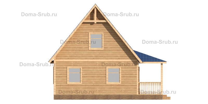Проект ДБ-85 Дом из бруса 7,5х9