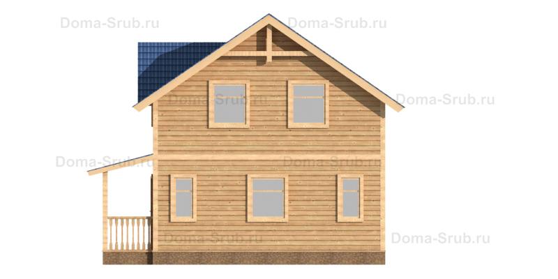 Проект ДБ-100 Дом из бруса 7,5х8