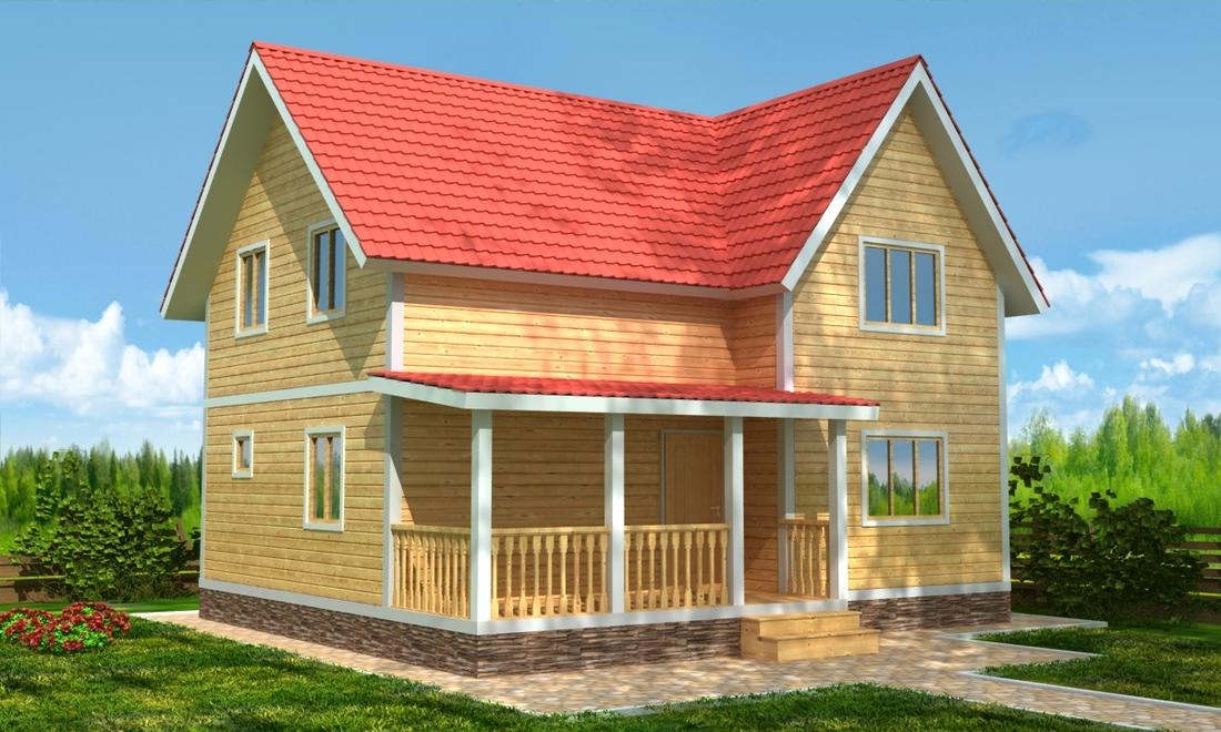 Проект КД-63 Каркасный дом 8х9