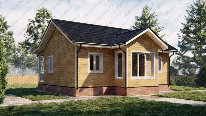 Проект ДБ-26 Дом из бруса 7,5х9