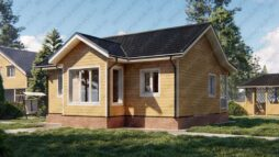 Дом из бруса 7 на 9 с террасой