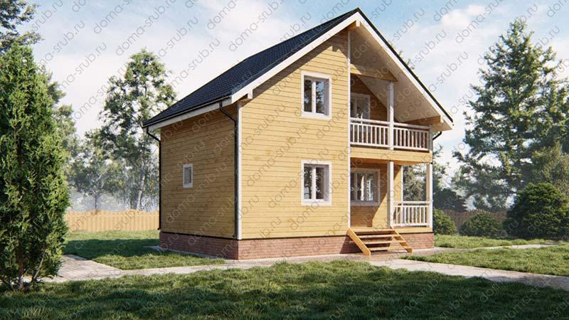 Проект ДБ-28 Дом из бруса 6х8