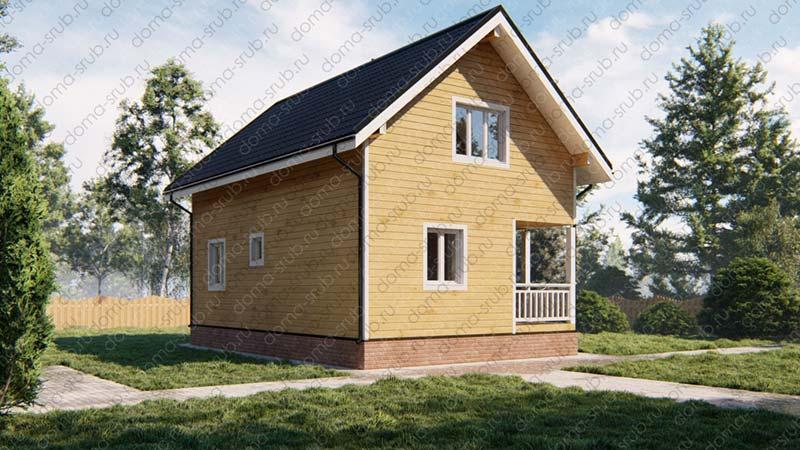 Проект ДБ-50 Дом из бруса 6х9