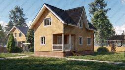 Дом из бруса 6х9 полутораэтажный