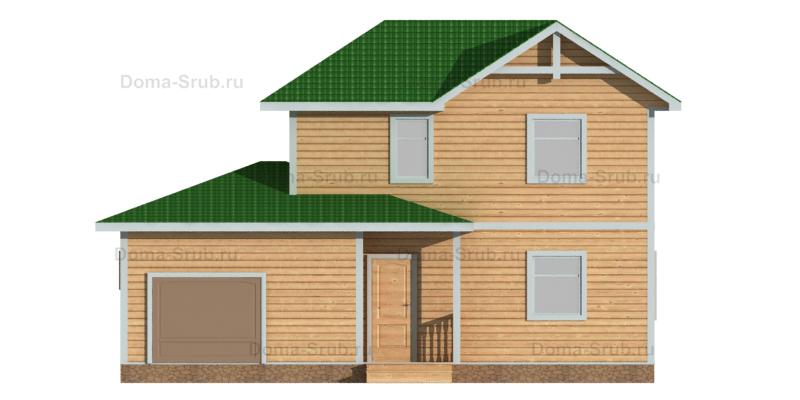Проект ДБ-64 Дом из бруса 7х7
