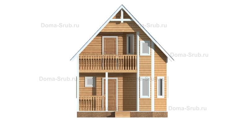 Проект ДБ-17 Дом из бруса 6х7