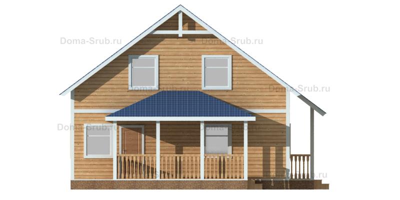 Проект КД-70 Каркасный дом 11х9