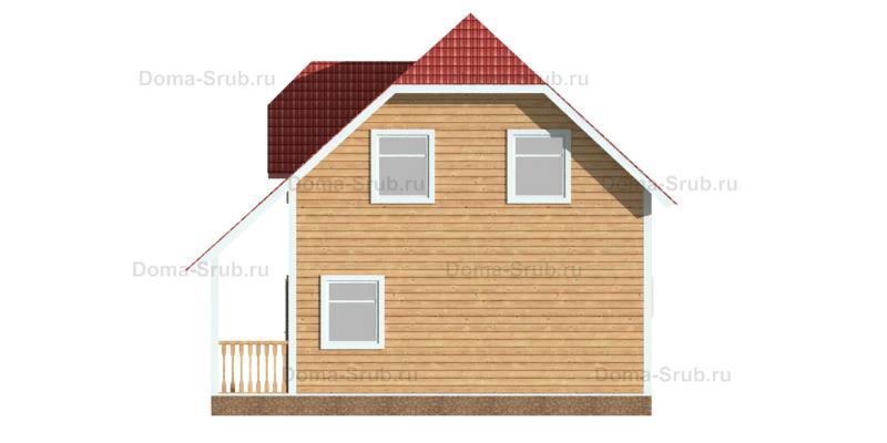 Проект КД-15 Каркасный дом 7х8