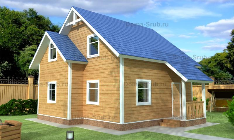 Проект КД-25 Каркасный дом 8х8