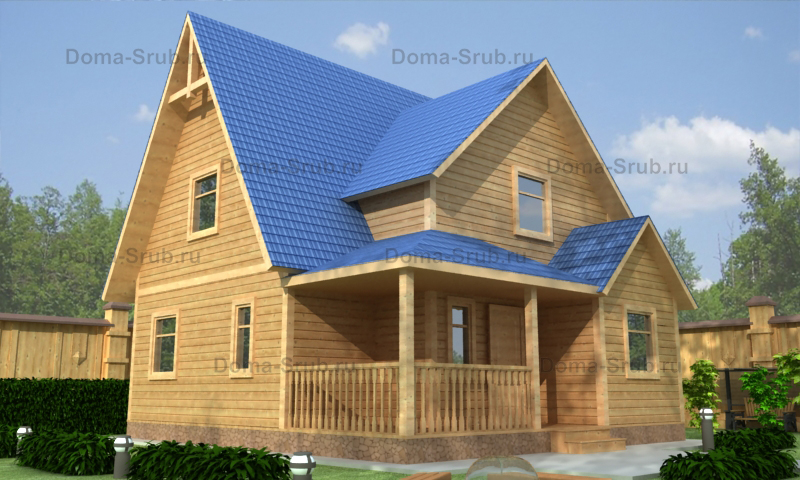 Проект КД-20 Каркасный дом 8х8