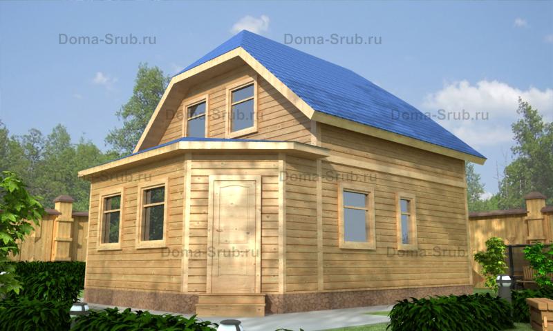 Проект ДБ-96 Дом из бруса 7х9