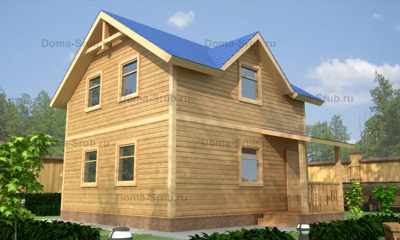 Проект КД-100 Каркасный дом 7,5х8