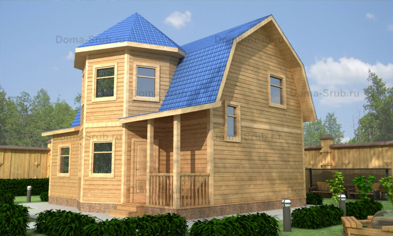 Проект ДБ-57 Дом из бруса 7,5х9