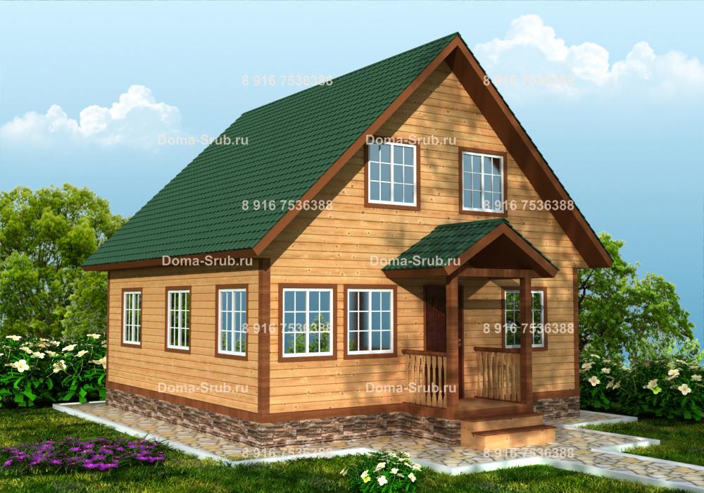 Проект КД-36 Каркасный дом 8х8