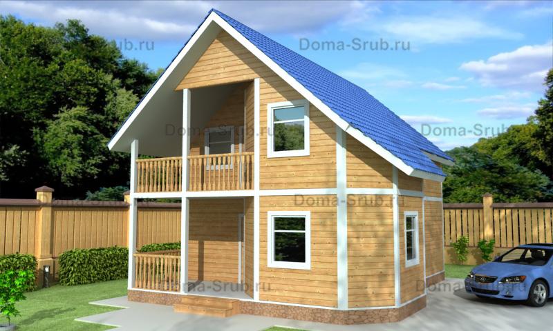 Проект КД-92 Каркасный дом 8,5х10