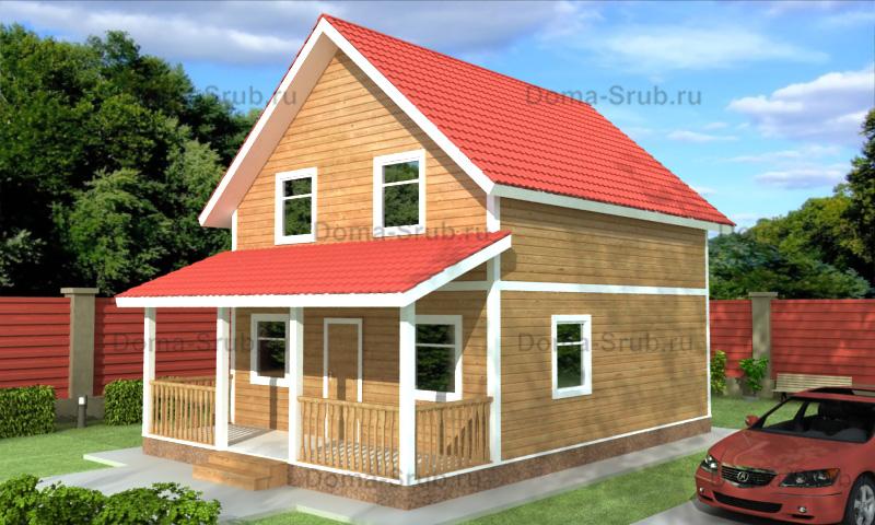 Проект ДБ-75 Дом из бруса 7.5х10