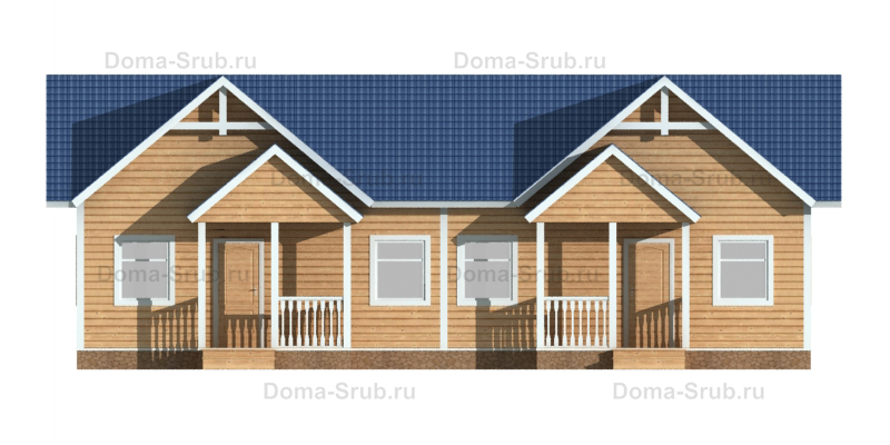 Проект ДБ-103 Дом из бруса 10x15