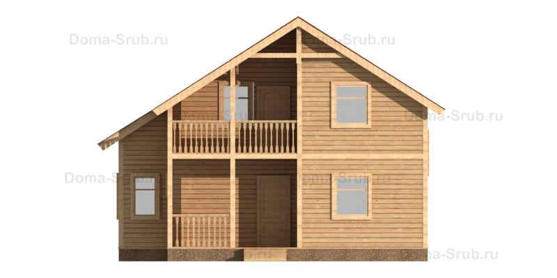 Проект ДБ-81 Дом из бруса 10х10