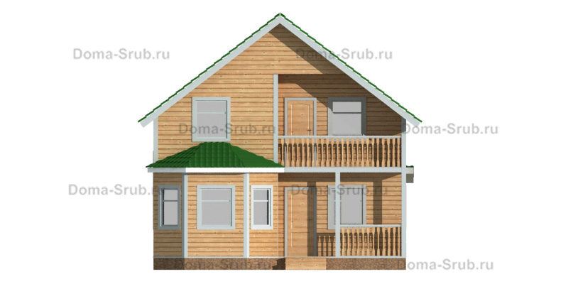 Проект КД-94 Каркасный дом 8х12
