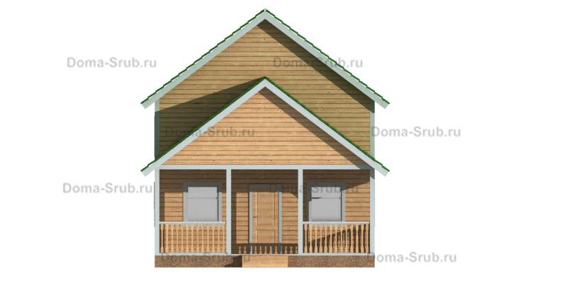 Проект ДБ-37 Дом из бруса 7х11,5