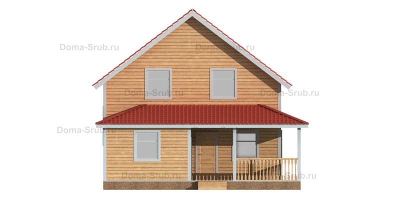 Проект ДБ-84 Дом из бруса 8х11