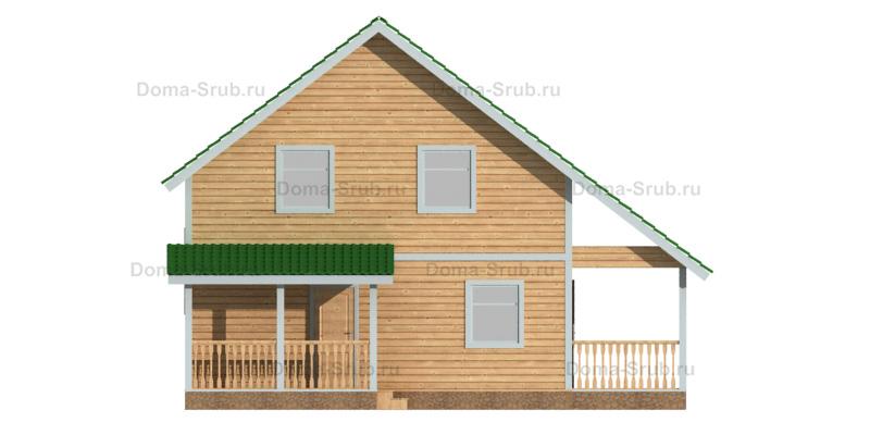 Проект ДБ-86 Дом из бруса 8х9