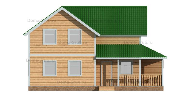 Проект ДБ-90 Дом из бруса 7,5х12