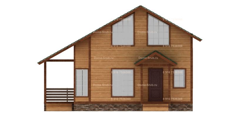 Проект ДБ-13 Дом из бруса 7х8