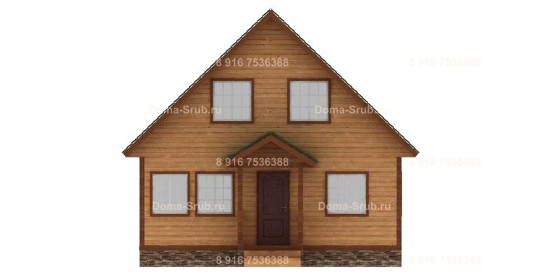 Проект ДБ-14 Дом из бруса 8х8