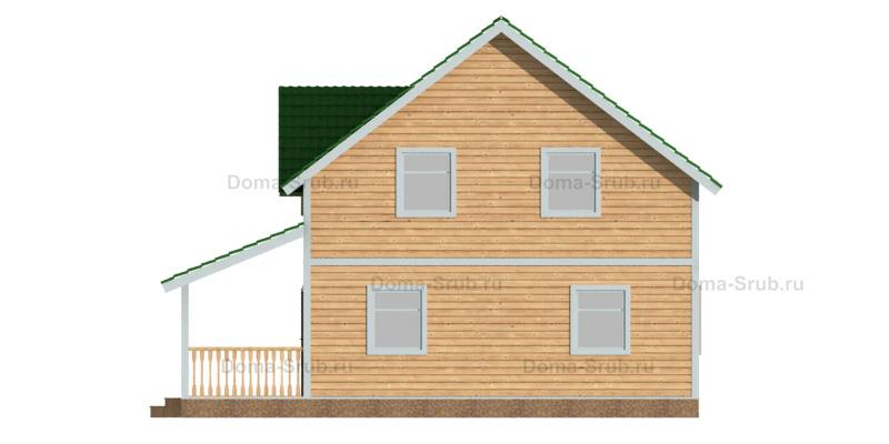 Проект ДБ-87 Дом из бруса 9х10.5